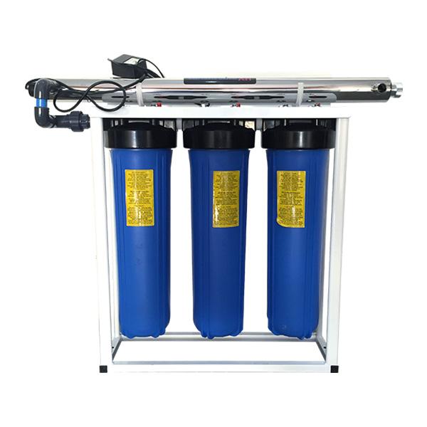 3 stage big blue UV filter system