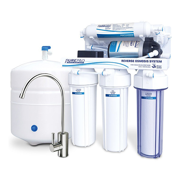 Under Counter Reverse Osmosis System with Pump